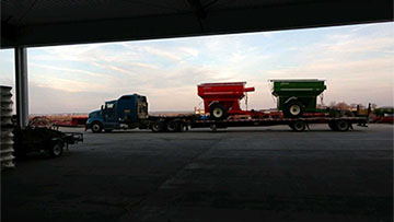 Shipping two grain carts in one load