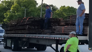 Shipping Lumber to its New Location