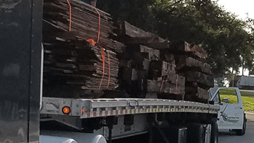Transporting Lumber to its Job Site