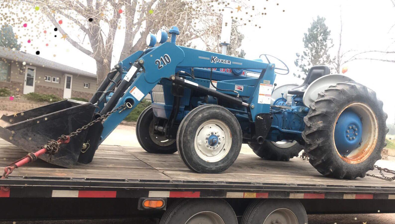 Ford 3000 Loader : Tractor transport farm loader equipment