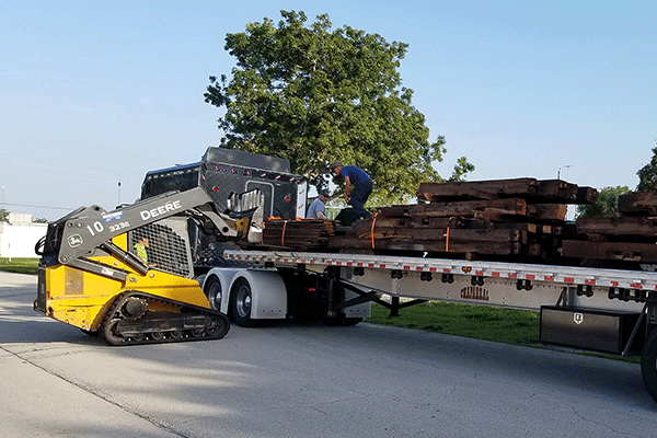 Skid Steer shipping load